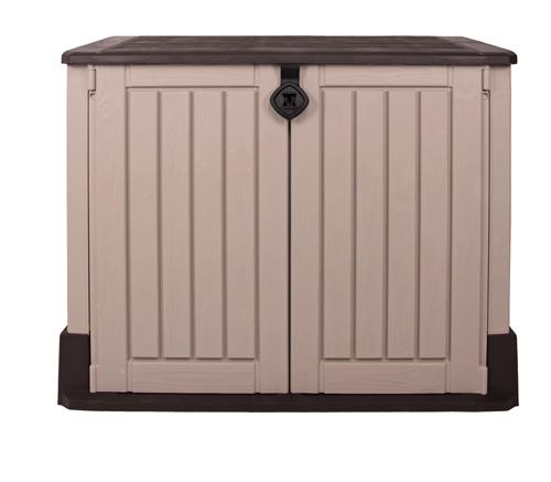 keter ger tebox woodland 30 aufbewahrungsbox midi sio m lltonnenbox schuppen neu ebay. Black Bedroom Furniture Sets. Home Design Ideas