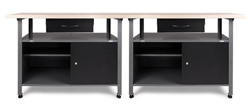 2x werkbank werktisch werkstatttisch montagewerkbank metall 30mm arbeitsplatte ebay. Black Bedroom Furniture Sets. Home Design Ideas