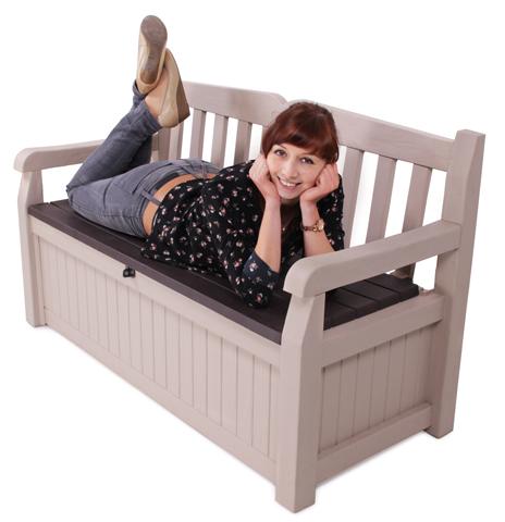 gartenbank eden mit kissenbox hochwertige gartentruhe auflagenbox 265 l neu ebay. Black Bedroom Furniture Sets. Home Design Ideas