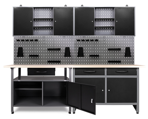 werkstatteinrichtung werkstatt werkbank werkzeugschrank lochwand metall m haken ebay. Black Bedroom Furniture Sets. Home Design Ideas
