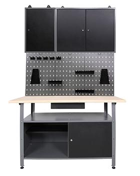 werkstatteinrichtung werkstatt werkbank werkzeugschrank lochwand metall m haken ebay. Black Bedroom Furniture Sets. Home Design Ideas