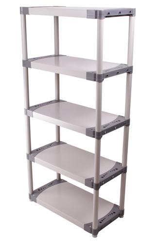 kunststoffregal tin steckregal lagerregal haushaltregal schwerlastregal allzweck ebay. Black Bedroom Furniture Sets. Home Design Ideas