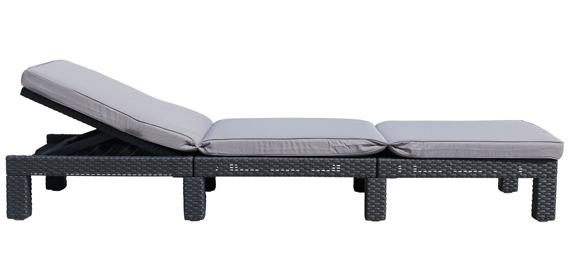 allibert daytona sonnenliege gartenliege rattanoptik kunststoff gartenm bel neu ebay. Black Bedroom Furniture Sets. Home Design Ideas