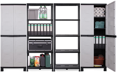 kunststoffschrank kunststoffregal 4er set prestige neu g nstig ebay. Black Bedroom Furniture Sets. Home Design Ideas