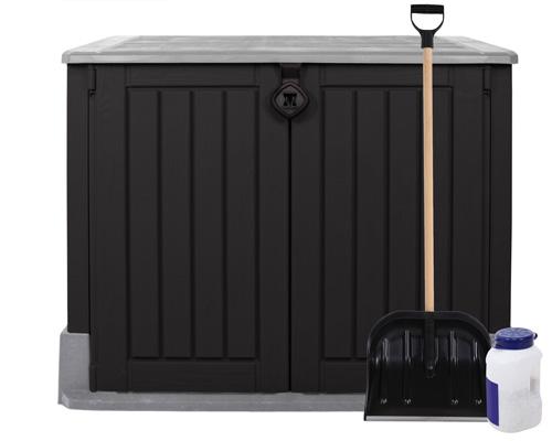 keter ger tebox m lltonnenbox schuppen woodland 30. Black Bedroom Furniture Sets. Home Design Ideas