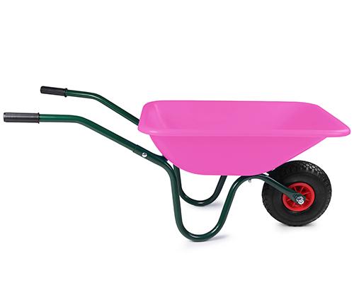 kinderschubkarre gartenkarre schubkarre kunststoff transportkarre pink luftrad ebay. Black Bedroom Furniture Sets. Home Design Ideas