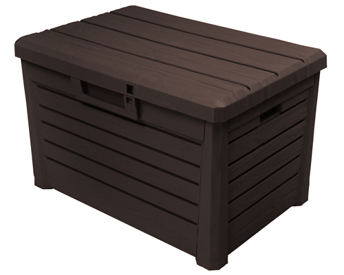 florida compact gartenbox kissenbox sitztruhe holzoptik poolbox auflagenbox neu ebay. Black Bedroom Furniture Sets. Home Design Ideas