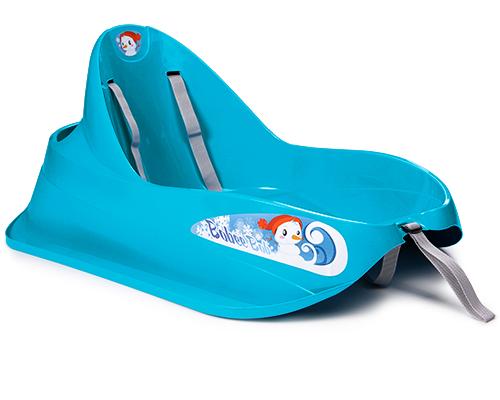 ondis24 schlitten bob f r kleinkinder blau rodel mit lehne und sicherheitsgurt ebay. Black Bedroom Furniture Sets. Home Design Ideas