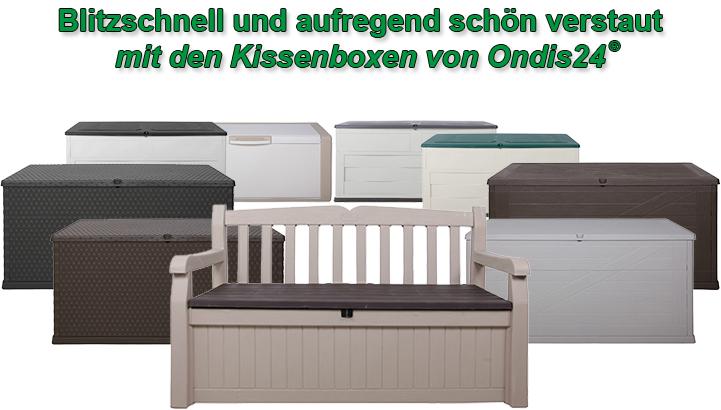 santo gartenbox kissenbox sitztruhe rattan sitzbank auflagenbox anthrazit ebay. Black Bedroom Furniture Sets. Home Design Ideas
