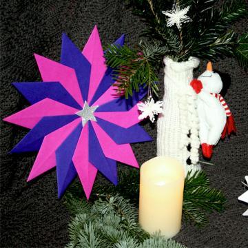 Weihnachten Teil 2: Stern basteln