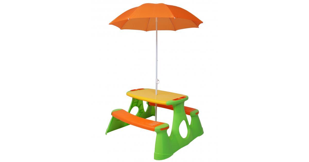 ondis24 pick nick tisch mit sonnenschirm g nstig online kaufen. Black Bedroom Furniture Sets. Home Design Ideas