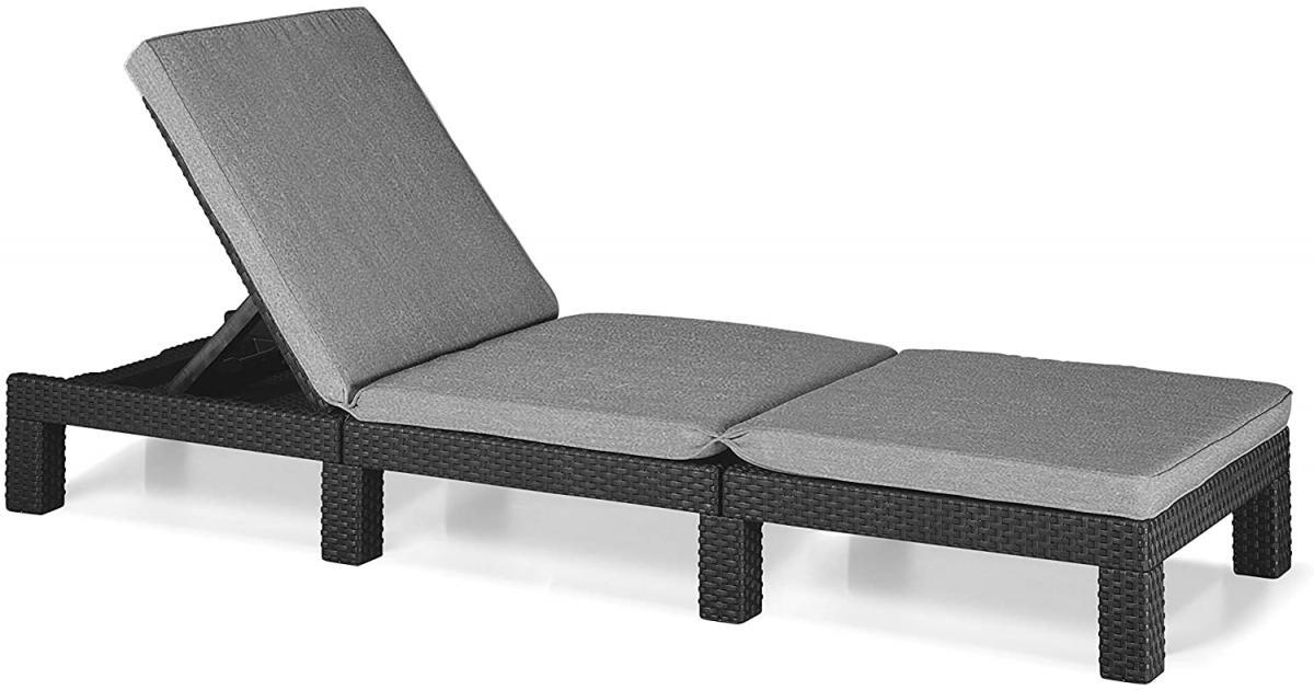ondis24 sonnenliege dayton kunststoff rattan anthrazit g nstig online kaufen. Black Bedroom Furniture Sets. Home Design Ideas