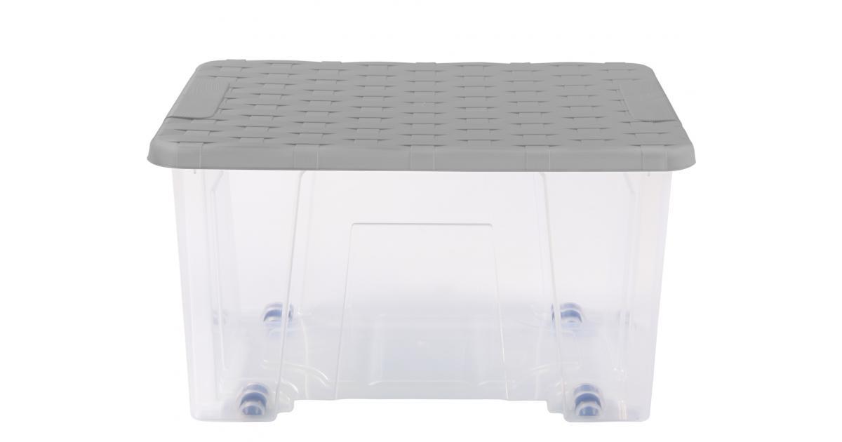 ondis24 unterbettbox mit rollen rattan 15 l g nstig online kaufen. Black Bedroom Furniture Sets. Home Design Ideas