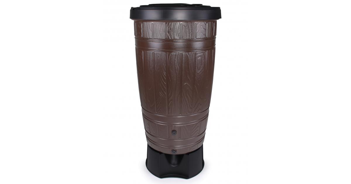 ondis24 regentonne woodcan 265 liter mit st nder g nstig. Black Bedroom Furniture Sets. Home Design Ideas