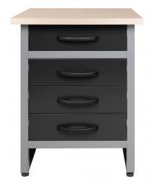 ONDIS24 Werkbank Werktisch mit 4 Schubladen 60 x 60 cm