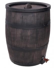 ONDIS24 Regentonne Wasserbehälter Fass Eichenfass 120 L