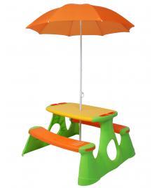 ONDIS24 Pick Nick Tisch mit Sonnenschirm