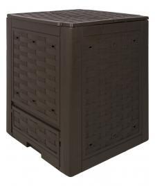 ONDIS24 Komposter Kompost Rattan Kunststoff braun