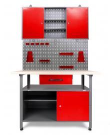 ONDIS24 Werkstatt Set Rot 120 cm 1 Schrank