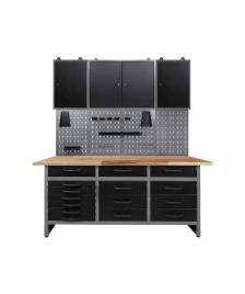ONDIS24 Werkstatt Set Konny 160 cm 3 Schränke