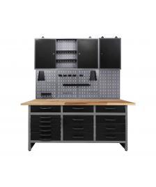 ONDIS24 Werkstatt Set Konny 170 cm 2 Schränke offen