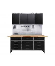 ONDIS24 Werkstatt Set Konny 170 cm 3 Schränke LED