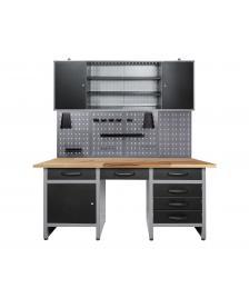 ONDIS24 Werkstatteinrichtung 170cm, Werkbank + Lochwand + Schrank
