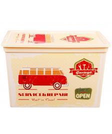 ONDIS24 Aufbewahrungsbox C Box Cube Vintage Design Garage mit Deckel