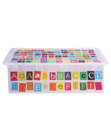 ONDIS24 Aufbewahrungsbox C Box L ABC Design mit Deckel