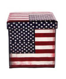 ONDIS24 Polsterhocker USA Amerika Sitzhocker mit Stauraum
