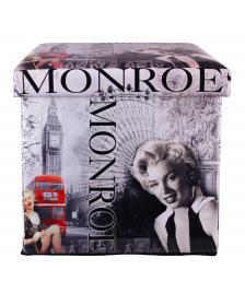 ONDIS24 Polsterhocker Marilyn Monroe Sitzhocker mit Stauraum