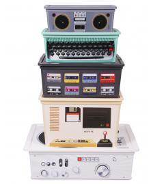 ONDIS24 Style Boxen Retro 5er Set Aufbewahrungsboxen