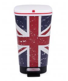 ONDIS24 Abfalleimer Mülleimer Chic UK Flagge 25 Liter