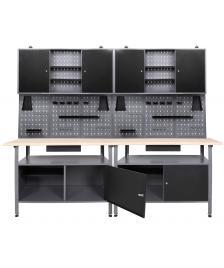 ONDIS24 Werkstatt Set Klaus 240 cm 2 Schränke 95 cm