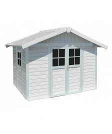 ONDIS24 DECO Gartenhaus H7.5 2-türig grau/weiß