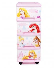 ONDIS24 Curver Schubladenturm Disney Prinzessinnen mit Rollen