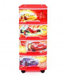 ONDIS24 Curver Schubladenturm Disney Cars mit Rollen
