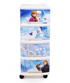 ONDIS24 Curver Schubladenturm Disney Frozen mit Rollen