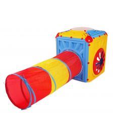 ONDIS24 Activity Cube Aktivitätswürfel Kinderspielhaus mit Tunnel