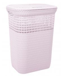 ONDIS24 Wäschekorb Rattan 60 L rosa