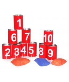 ONDIS24 Dosen werfen Wurfspiel mit Blechdosen