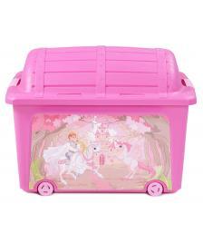 ONDIS24 Spielzeugbox Rollbox Spielzeugtruhe Prinzessin