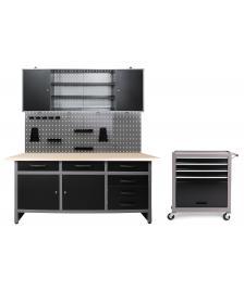 ONDIS24 Werkstatt Set Karsten 1 Schrank + Werkstattwagen