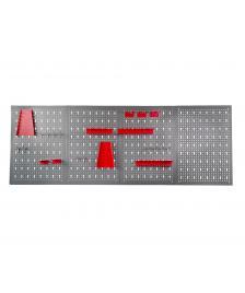 ONDIS24 Lochwand mit 22 teiligem Hakenset rot