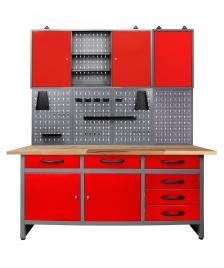 ONDIS24 Werkstatt Set Karsten 170 cm 2 Schränke offen rot