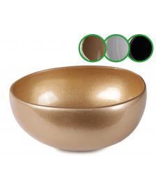 ONDIS24 Kokosnuss Schale Schüssel einfarbig