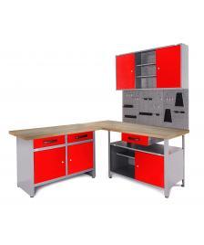 ONDIS24 Werkstatt Set Ecklösung Basic One rot