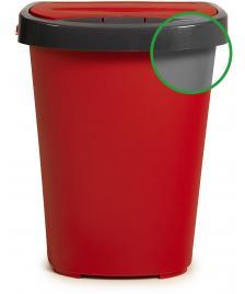 ONDIS24 Mülleimer mit Deckel 40 L