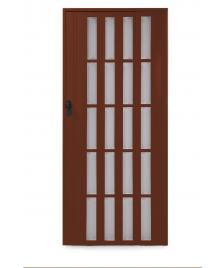 ONDIS24 Falttür mit Fenster Ayto 84 cm dunkelbraun