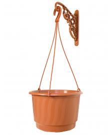 ONDIS24 Blumenampel mit Wandhalter terracotta